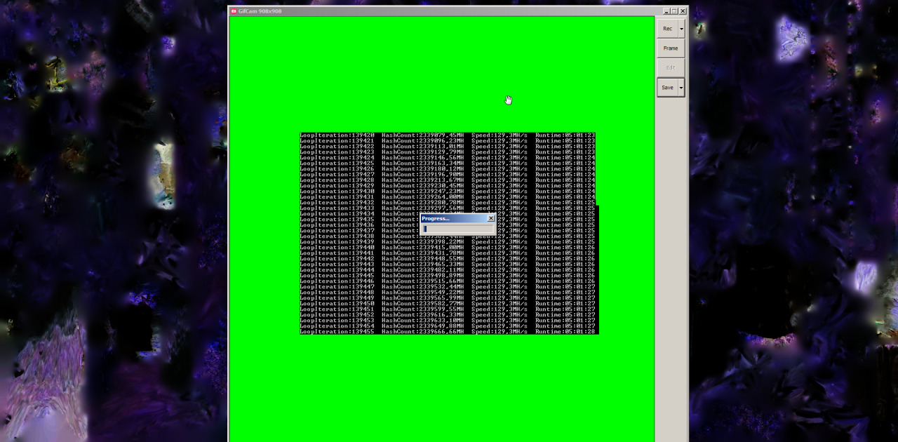 Try'n'dare to do a high FPS screencap while GPU hashing. ^w^